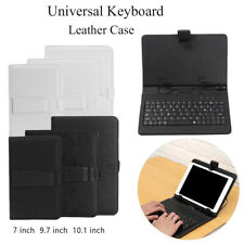 Universal 7/9.7/10.1 inch Tablet PU Leather Case Cover With USB Keyboard New