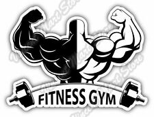"Fitness Gym Exercise Workout Car Bumper Window Vinyl Sticker Decal 5""X4"""