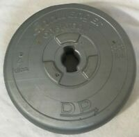 Vintage Challenger 8.8 lbs 4 kilos Orbatron WEIGHT Disk Fitness Barbell Gray