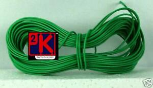 Model Railway Peco or Hornby Point Motor etc Wire 1x10m Roll 7/0.2mm 1.4A Green2