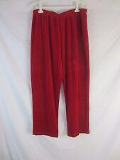Cervelle Velour Pull On Red Pants -  Women's 2X - C72