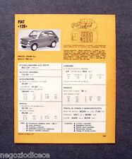 BE27 - Clipping-Ritaglio -1973- MINI SCHEDA TECNICA , FIAT 126