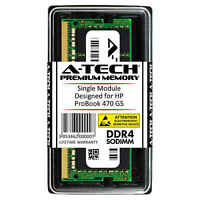 A-Tech 16GB DDR4 2666 MHz PC4-21300 1.2V 2Rx8 Memory RAM for HP ProBook 470 G5