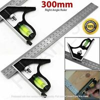 300MM RIGHT ANGLE RULER ENGINEERS ADJUSTABLE COMBINATION 12 Inch TRY SQUARE SET