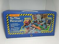"1975 BOXED Vinyl Matchbox ""To The Rescue"" Panorama Rescue City Playset!!!!"