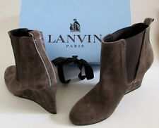 0998cbef8b73  725 NEW LANVIN Paris Brown Suede Wedge Chelsea Boots Sz 5.5