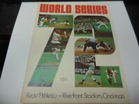 1972 WORLD SERIES PROGRAM ATHLETICS vs REDS WITH RARE GAME TICKET MLB BASEBALL
