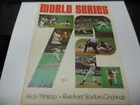 1972 WORLD SERIES PROGRAM ATHLETICS vs REDS WITH RARE GAME TICKET MLB BASEBALL