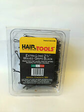 HAIR TOOLS EXTRA-LONG 2 1/2 INCH WAVED GRIPS BLACK 500 BOX