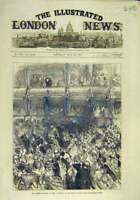 Original Old Antique Print 1876 Prince Wales Royal Italian Opera 19th