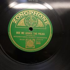 78rpm SEE ME DANCE THE POLKA / OVER THE WAVES zonophone 5445