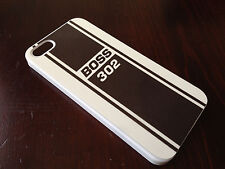 Apple iPhone 4/4s or 5/5s Matte Print 302 Boss Mustang Black Plastic Snap Case