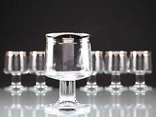 6 Vintage Thomas Rumba Weingläser Weißweingläser Gläser Platinrand ~ 80er W6C