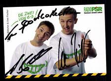 Thomas Böttcher und Uwe Fischer Autogrammkarte Original Signiert # BC 73359