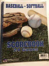 Baseball Softball Scorebook. 24 Games *Made In Usa