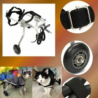 21-26cm Adjustable Pet Dog Cat Wheelchair For Handicapped Doggie Puppy 2 Wheels
