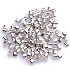 2015 Hot 1.5mm/2mm Silver/Gold/Black/Bronze Tube Crimp End Beads 500/1000 Pcs