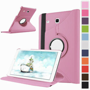 """For Samsung Galaxy Tab E 8.0"""" 9.6"""" Tablet Flip Leather Rotating Stand Case Cover"""
