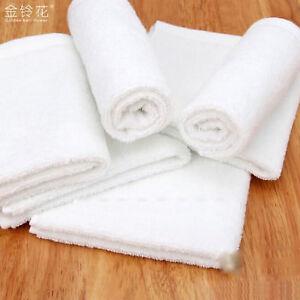 5/10PCS WHITE 100% COTTON  HAND TOWELS 30*30cm / 25*25cm SALON SPA HOTEL TOWELS