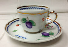 GINORI ITALIAN FRUIT AFTER DINNER / DEMITASSE CUP & SAUCER NEW ITALY