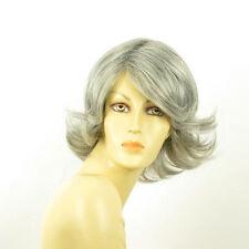 Perruque femme grise cheveux lisses ref  EDWIGE 51