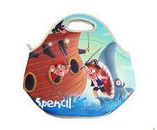 NEW Spencil Pirates Neoprene School Lunch Bag with zip & handles
