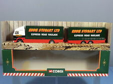 "CORGI No.59516 VOLVO SHORT CLOSE COUPLED TRAILER ""EDDIE STOBART LTD""     MIB"