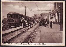 NAPOLI TORRE ANNUNZIATA 1940c PC Interno Stazione Treno Animata