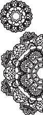 Texture Stamp ~ Doily ~ Kaisercraft Stamping Scrapbook Journal CS297 Half & Full