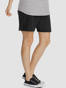 $133 Just My Size Women's Black French Terry Bermuda Casual Shorts Plus Size 1X