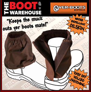 OVER BOOTS  'OILSKIN'  Work Boot Covers - Redback, Mongrel, Blundstone, Oil skin
