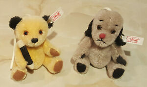 """From Steiff Teddy Bears: Sooty & Sweep, Limited Editions, Rare """"Ornaments"""""""