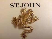 ST JOHN COLLECTION..DESIGNER JEWELRY..PIN..FROG
