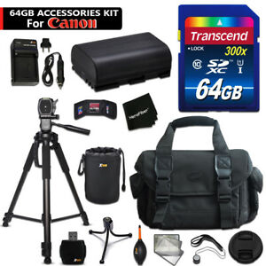 64GB ACCESSORIES Kit for Canon EOS 6D w/ 64GB Memory + Battery + MORE
