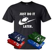 Just Do It Later Mens T-Shirt Nike Pokemon inspired parody funny top