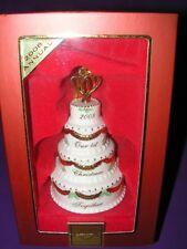 LENOX PORCELAIN 2008 ANNUAL ORNAMENT OUR 1ST CHRISTMAS WEDDING CAKE FIGURINE NIB