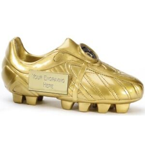 3D Football Boot trophy Resin in 3 sizes Free Engraving up to 45 Letters A1391