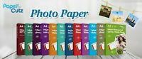 A4 INKJET PHOTO PAPER FULL RANGE GLOSS MATTE, PAPERCUTZ PROFESSIONAL