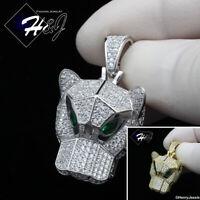 MEN 925 STERLING SILVER ICY DIAMOND EGYPTIAN EYE OF HORUS PENDANT*ASP204