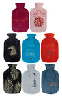 Embroidered Fleece 2.0L Fashy Latex Free Hot Water Bottle