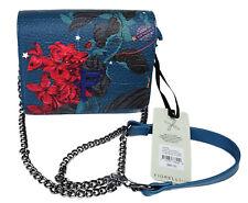 FIORELLI Small Flapover Crossbody Satchel Opulent Blue Vegan Leather Purse NEW
