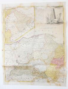 Güssefeld - Carte Mer Baltique Prusse-Orientale Poméranie 1775 Gravure sur