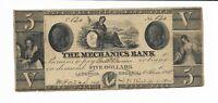 $5 1855 Georgia Augusta Mechanics Bank #830 maid shield Plate C