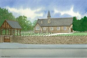 Dafen Parish Church, Llanelli - Greetings Card - Tony Paultyn