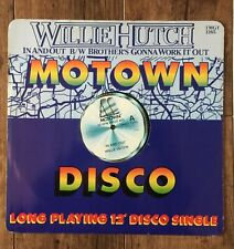 """Willie Hutch In And Out / Brother's Gonna Work It Out 12""""  UK 1982  Motown"""