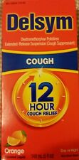 Delsym 12 Hour Cough Relief Day or Night  Orange 5 oz Exp10/18