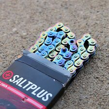 "SALT PLUS BMX WARLOCK HALFLINK 1/8"" BICYCLE CHAIN OIL SLICK PRIMO CULT JET FUEL"