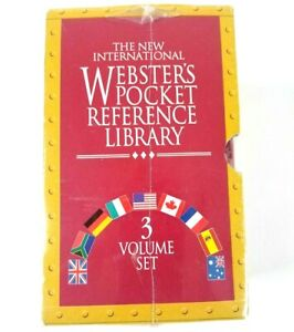 Webster's Pocket Reference Library Exclusive 3 Volume Set Sealed 1588055922