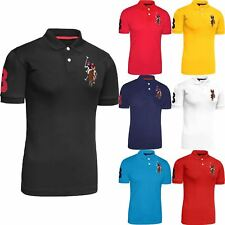Mens Original US Polo Assn T-shirt Shirt Coloured Pony Top Short Sleeve Cotton