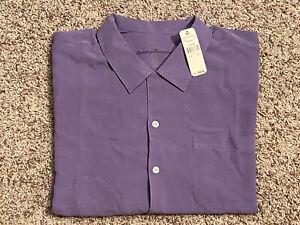 Tommy Bahama Catalina Twill 100% Silk S/S Shirt Size XLX Color Mayflower New!